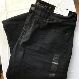 American Eagle Skinny Jean Black 36 32 with Tags